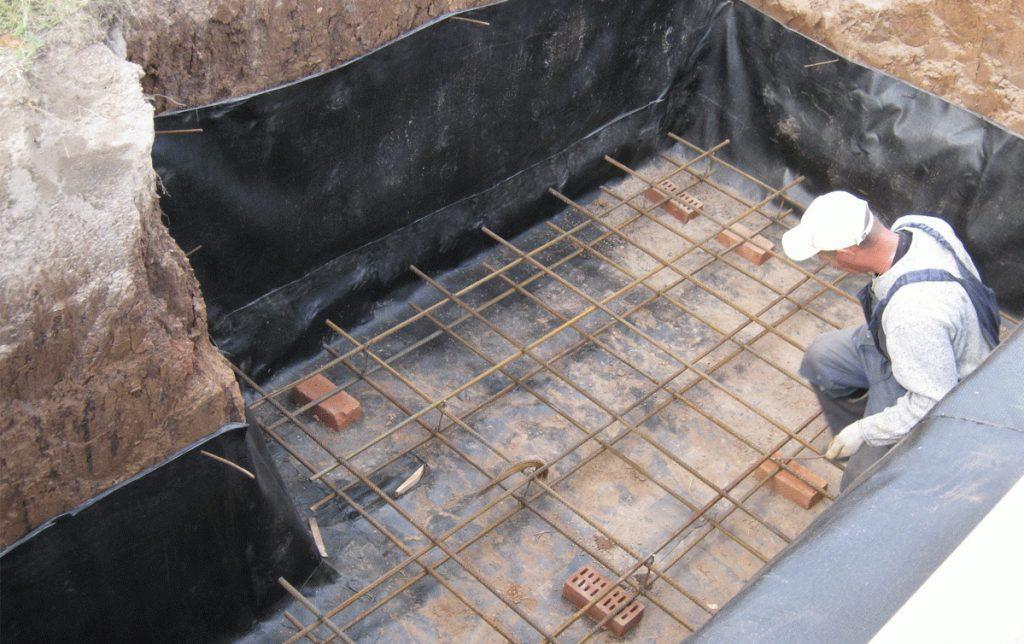 армирование пола погреба