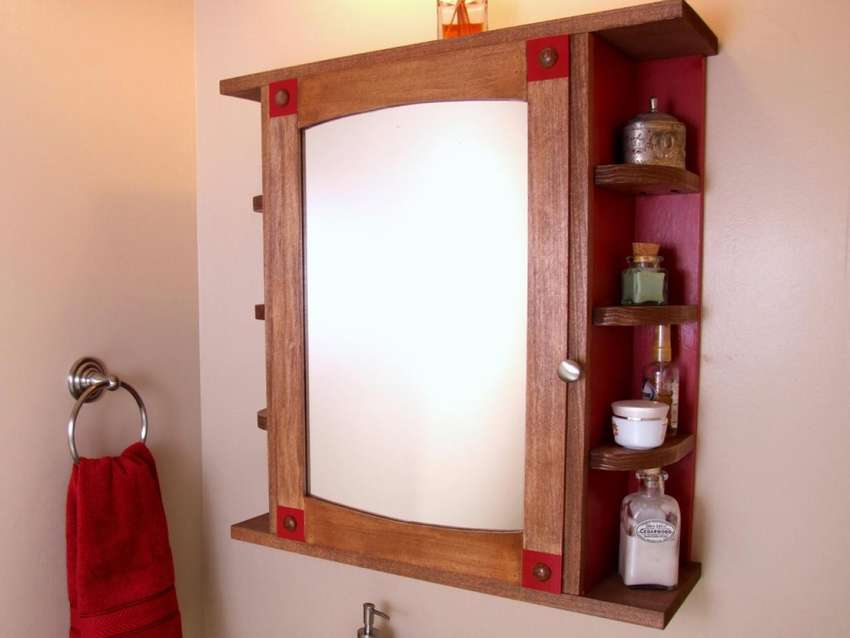 как сделать навесной шкаф для ванной комнаты