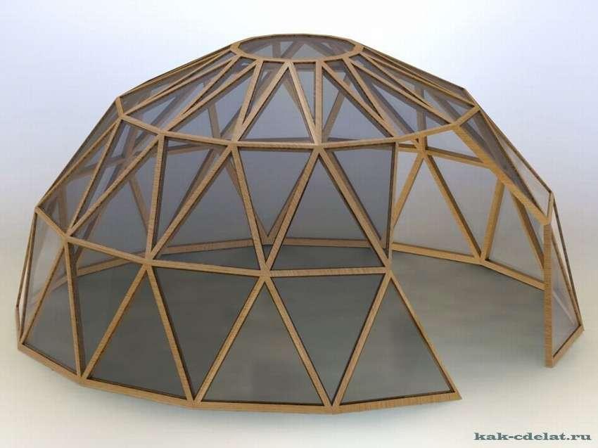 сферическая теплица своими руками чертежи изготовления