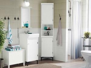 как сделать шкаф для ванной