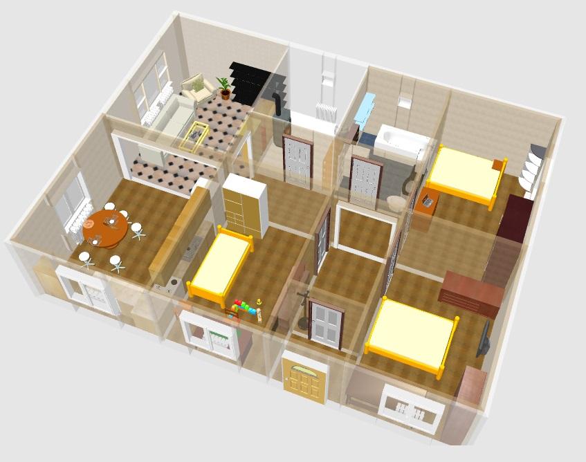 Проект дома 10 на 10 одноэтажный, цена | 668x847